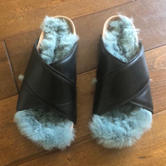 Celine Shoes | Celine Fur Sandals